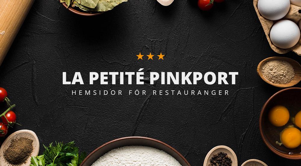 """Pinkport lanserar konceptet """"Hemsidor för restauranger"""""""