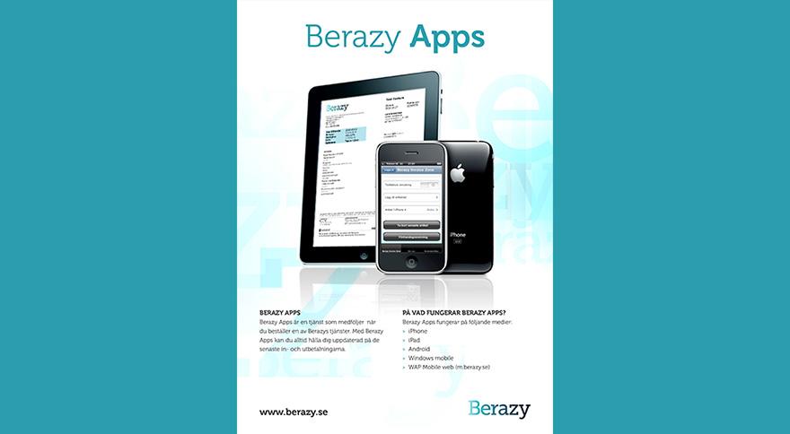 Trycksaker Berazy Produktblad Apps
