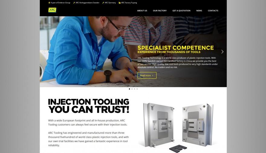 ARC webbplats / hemsida / webbdesign / SEO / sociala medier