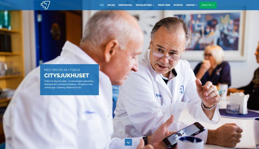 Citysjukhuset +7, hemsida, webbplats, webbdesign