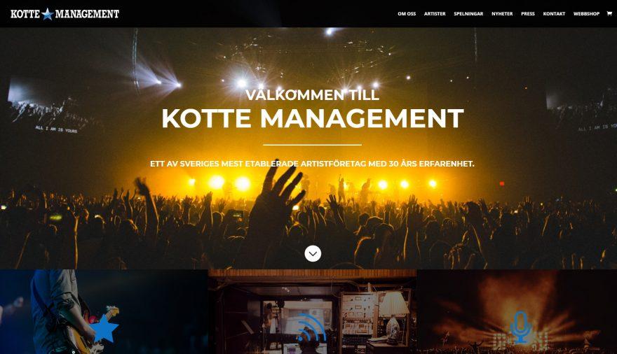 Kotte Management, hemsida, webbplats, webbdesign