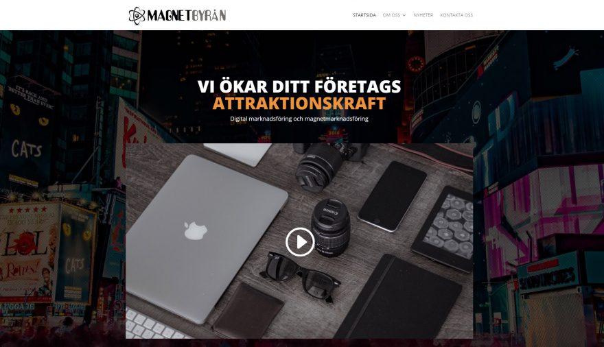Magnetbyrån, hemsida, webbplats, webbdesign, SEO