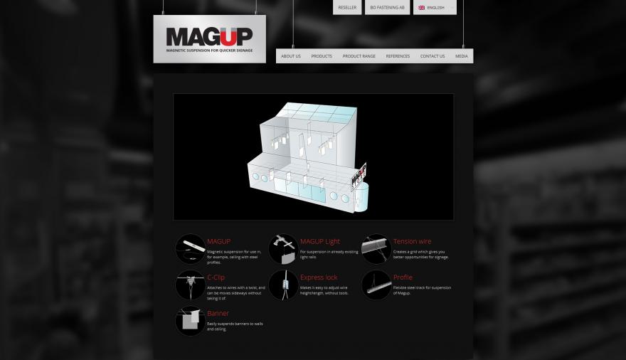 Magup webbplats / hemsida / webbdesign