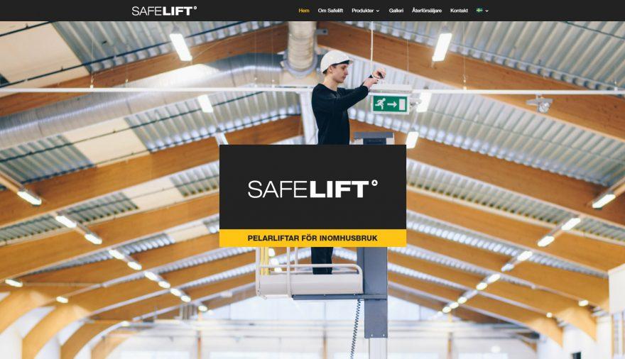 Safelift, hemsida, webbplats, webbdesign