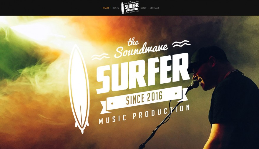 Webbplats The Soundwave Surfer