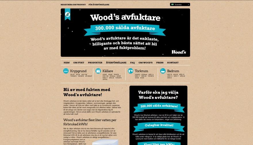 Wood's webbplats / hemsida / webbdesign